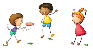Frisby kids Royalty Free Stock Images