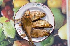 Frisch aufgeblähte Fische. Stockfotos