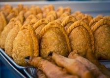 Frisch gebackene empanadas Mexiko stockbild