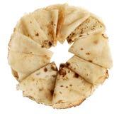 Frisch gebackene gerollte Blinis oder Krepps lokalisiert Stockfoto