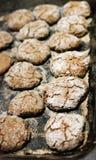 Frisch gebackene Kekse Stockfoto