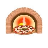 Frisch gebackene Pizza Stockfotografie