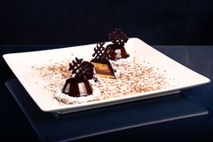 Frisch gebackene Schokolade Stockfotos
