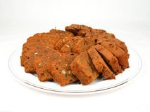 Frisch gebackener Pflaumen-Kuchen Stockfoto
