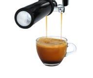 Frisch gebrautes Espresso Lizenzfreie Stockbilder