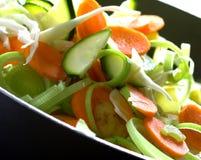 Frisch gehacktes Gemüse Stockbild