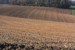 Frisch gepflogenes Feld in Deutschland Stockfotos