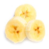Frisch geschnittene Bananen Lizenzfreie Stockfotografie