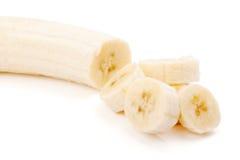 Frisch geschnittene Bananen Stockfotos