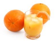 Frisch zusammengedrückter Orangensaft Stockbild