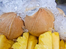 Frische Ananas der Scheibe Stockbild