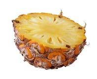 Frische Ananas lokalisiert auf Weiß Stockfotos