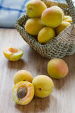 Frische Aprikosen Lizenzfreies Stockbild