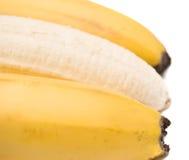 Frische Banane auf weißem Hintergrund Stockfotografie