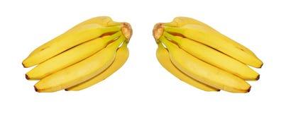 Frische Bananen auf weißem Hintergrund Lizenzfreie Stockfotografie