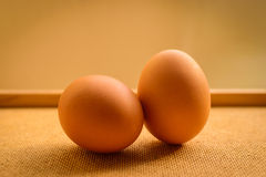 Frische Bauernhof-Huhn-Eier Lizenzfreies Stockbild