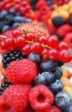Frische Beeren schließen süße Erdbeere, Himbeere, Blaubeere, b mit ein Stockbilder