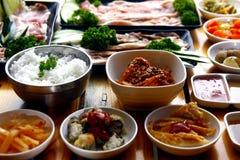 Frische Bestandteile eines koreanischen Tellers Lizenzfreies Stockbild
