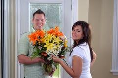 Frische Blumen-Anordnung lizenzfreies stockbild