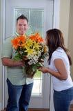 Frische Blumen-Anordnung lizenzfreie stockbilder