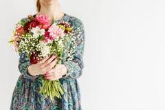 Frische Blumen für Mutter ` s Tag lizenzfreies stockfoto