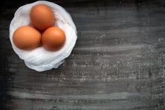Frische braune Eier Lizenzfreies Stockfoto