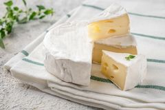 Frische Brie Italienische Antipastisn?cke Franz?sischer Camembertk?se lizenzfreies stockfoto