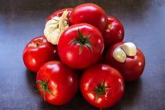 Frische, bunte Tomaten Stockfotos