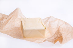 Frische Butter getrennt Stockfotos