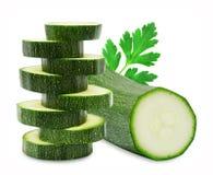 Frische cutted Zucchini und Petersilie Lizenzfreie Stockfotos
