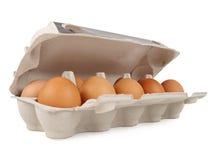 10 frische Eier Stockbild
