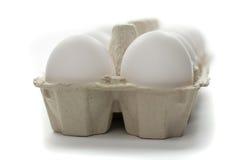 Frische Eier im Kasten Lizenzfreie Stockbilder