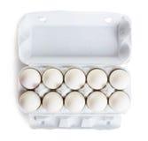 Frische Eier im Kasten Stockfotografie