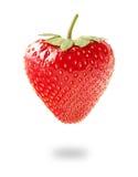 Frische Erdbeere auf weißem Hintergrund Stockfotografie