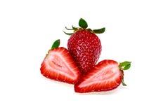 Frische Erdbeere getrennt Stockfotografie
