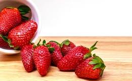 Frische Erdbeere getrennt Lizenzfreies Stockfoto