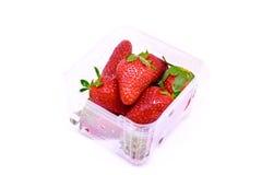 Frische Erdbeere getrennt Lizenzfreie Stockfotos