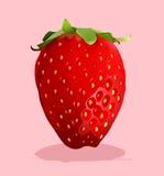 Frische Erdbeere mit Stamm an vektor abbildung