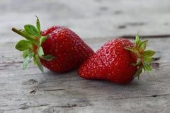 Frische Erdbeere zwei Lizenzfreie Stockbilder