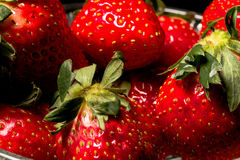 Frische Erdbeeren Stockfotos
