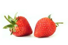 Frische Erdbeeren auf Weiß Lizenzfreie Stockfotos