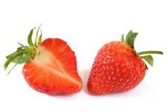 Frische Erdbeeren auf Weiß Lizenzfreie Stockbilder