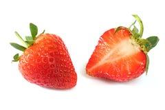Frische Erdbeeren auf Weiß Lizenzfreies Stockbild