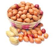 Frische Erdnüsse mit Samen Stockfoto