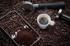 Frische Espressoschale Lizenzfreie Stockfotografie