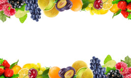 Frische Farbobst und gemüse - Gesundes Nahrungsmittelkonzept Stockbild