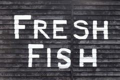 Frische Fisch-Zeichen Lizenzfreie Stockfotos