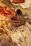 Frische Fische mit offenem Mund Stockfotos
