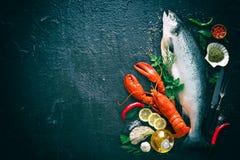 Frische Fische und essbare Meerestiere lizenzfreie stockfotografie