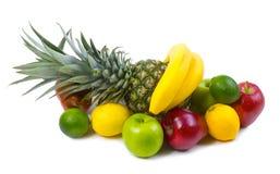 Frische Früchte auf Weiß Stockfotografie